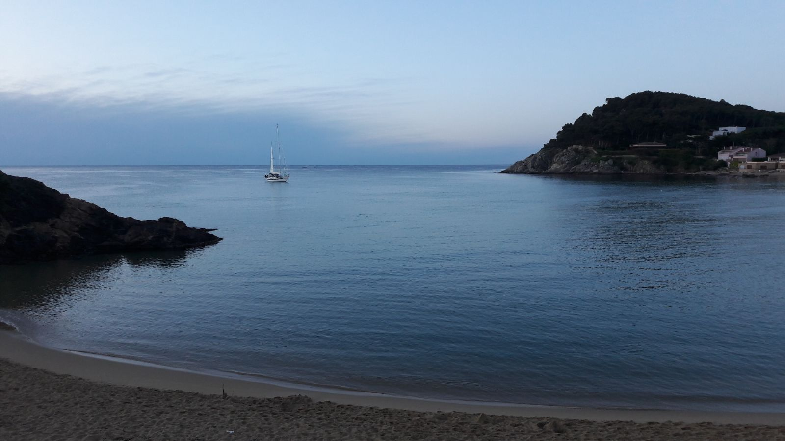 La Fosca beach at sunrise in May 2018